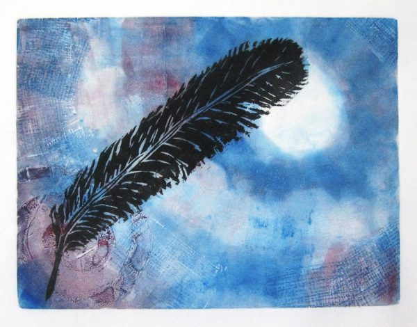 Sky - monoprint © Joanne Brown