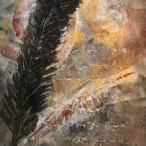 "Correspondence – 14"" x 18"" mixed media print © Joanne Brown"