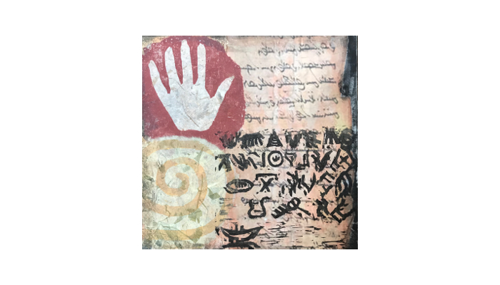 """Forgotten Languages - 14"""" x 18"""" mixed media print © Joanne Brown"""