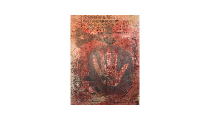 "Glyph 1 - 14"" x 18"" mixed media print © Joanne Brown"