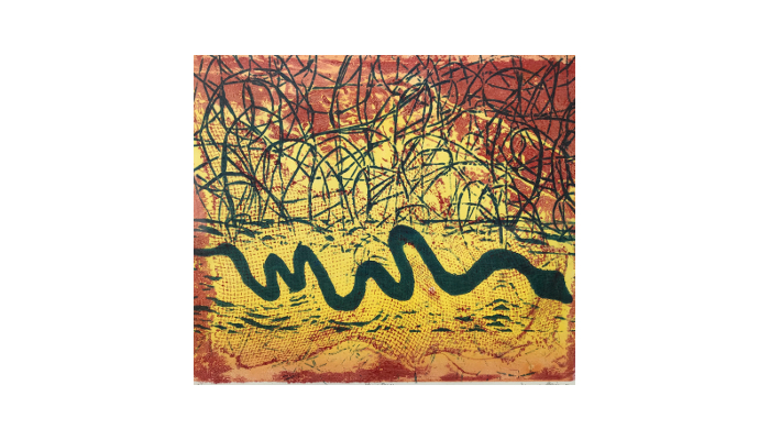 """May Day – 15"""" x 16"""" woodblock monotype © Joanne Brown"""